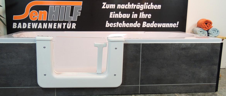Der senHILF Badewanneneinstieg ist leicht zu bedienen und in nur 4 Stunden in jede bestehende Badewanne eingebaut - ohne Baustelle - mit Garantie.
